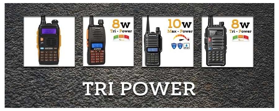 Radios Tripower de Baofeng , 8 y 10w.